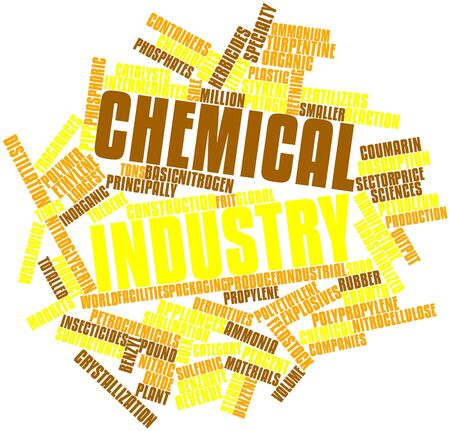 styrene: Abstract word cloud for Chemical industry with related tags and terms Stock Photo