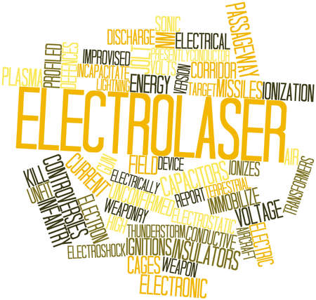 deemed: Abstract word cloud for Electrolaser with related tags and terms Stock Photo