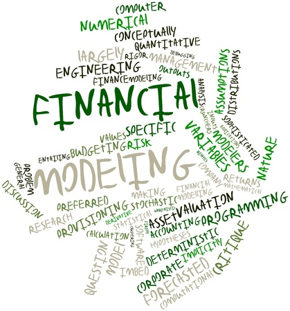 quantitative: Abstract word cloud for Financial modeling with related tags and terms