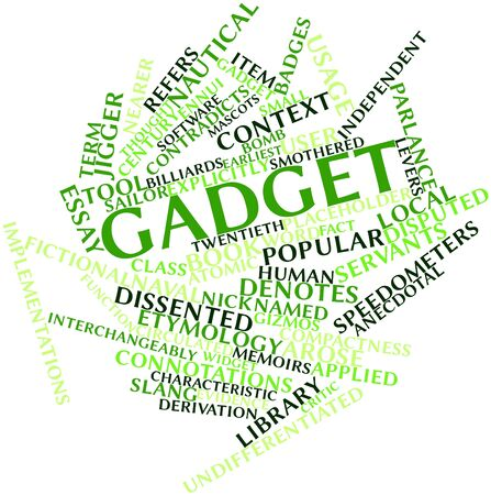 Abstract word cloud for Gadget with related tags and terms Stock Photo - 16500059