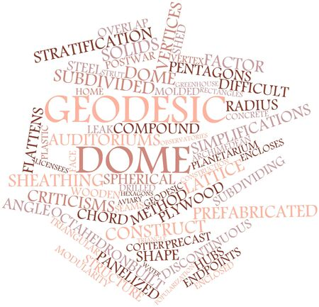 spanned: Abstract word cloud for Geodesic dome with related tags and terms