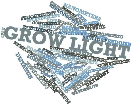 fluorescent lights: Abstract word cloud for Grow light with related tags and terms