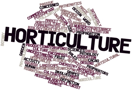 Abstract word cloud for Horticulture with related tags and terms