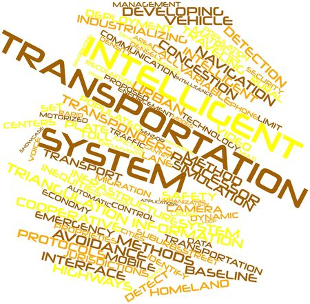 Abstract word cloud for Intelligent transportation system with related tags and terms photo