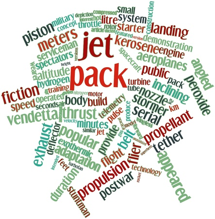 propellant: Abstract word cloud for Jet pack with related tags and terms