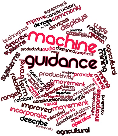 Abstract word cloud for Machine guidance with related tags and terms