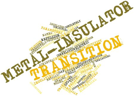 distinguish: Abstract word cloud for Metal-insulator transition with related tags and terms