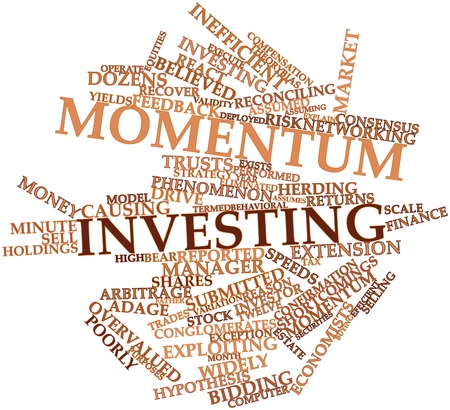 eliminated: Abstract word cloud for Momentum investing with related tags and terms