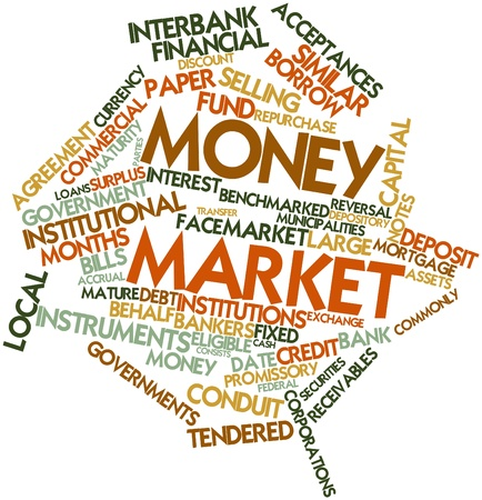 interbank: Abstract word cloud for Money market with related tags and terms