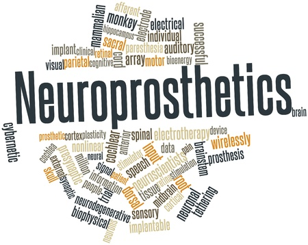 wirelessly: Abstract word cloud for Neuroprosthetics with related tags and terms