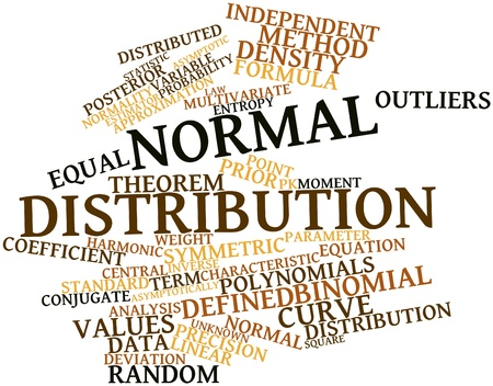 Abstract word cloud for Normal distribution with related tags and terms Stock Photo - 16499690