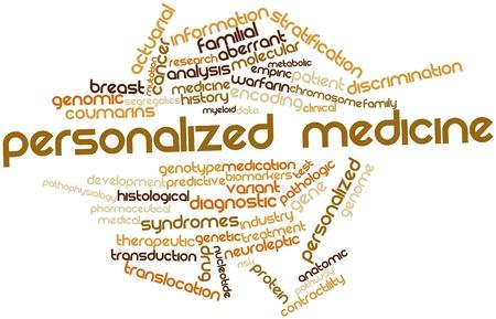 anticoagulant: Nube palabra abstracta para la medicina personalizada con etiquetas y t�rminos relacionados