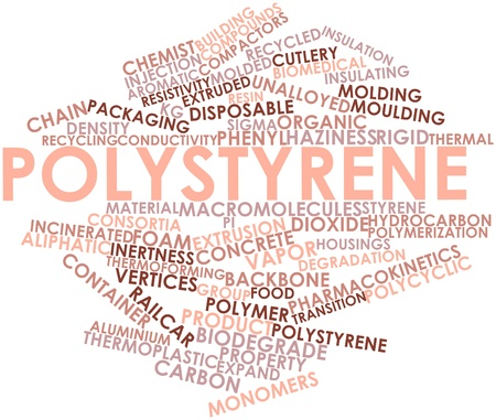 polystyrene: Abstract word cloud for Polystyrene with related tags and terms