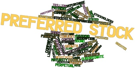 Abstract word cloud for Preferred stock with related tags and terms Stock Photo - 16499510