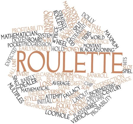 Abstract word cloud for Roulette with related tags and terms Reklamní fotografie