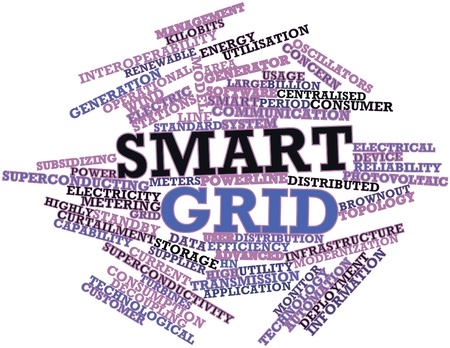 smart grid: Abstract word cloud for Smart grid with related tags and terms