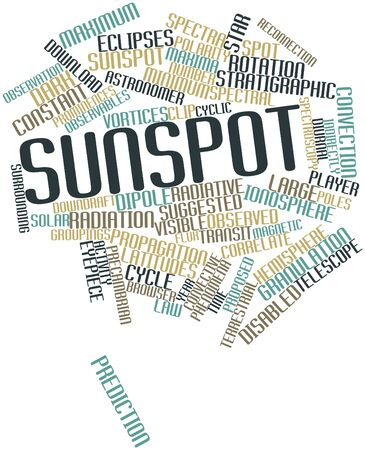 correlate: Abstract word cloud for Sunspot with related tags and terms Stock Photo