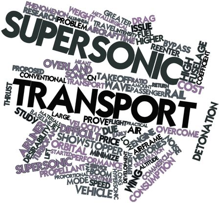 Abstract word cloud for Supersonic transport with related tags and terms Stock Photo - 16500728