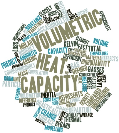 antimony: Abstract word cloud for Volumetric heat capacity with related tags and terms
