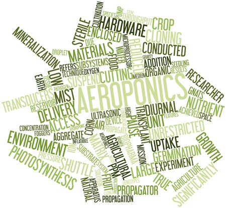 unrestricted: Abstract word cloud for Aeroponics with related tags and terms