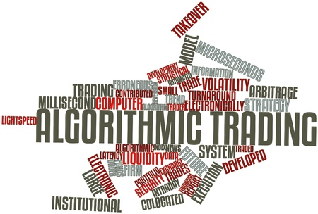 Abstract word cloud for Algorithmic trading with related tags and terms Stock Photo - 16499493