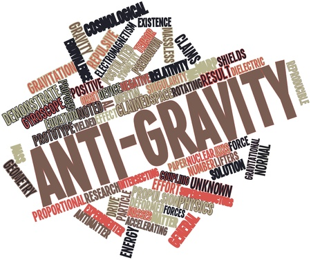 anti nuclear: Abstract word cloud for Anti-gravity with related tags and terms Stock Photo