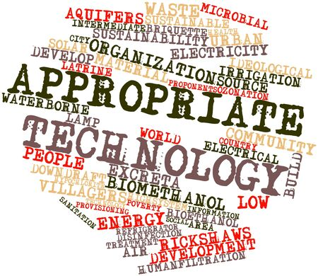 appropriate: Abstract word cloud for Appropriate technology with related tags and terms Stock Photo