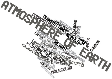 ionosphere: Abstract word cloud for Atmosphere of Earth with related tags and terms