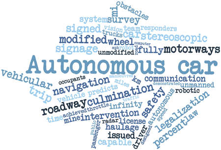 autonomous: Abstract word cloud for Autonomous car with related tags and terms