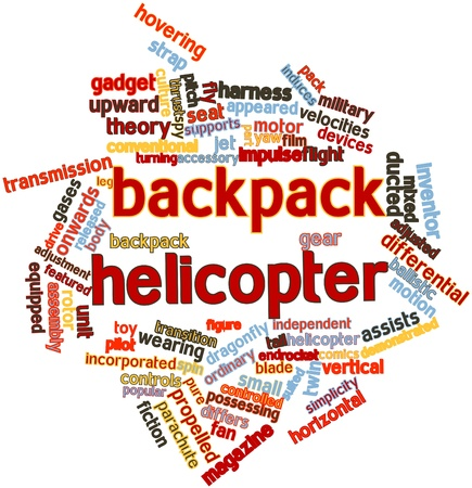 differs: Abstract word cloud for Backpack helicopter with related tags and terms