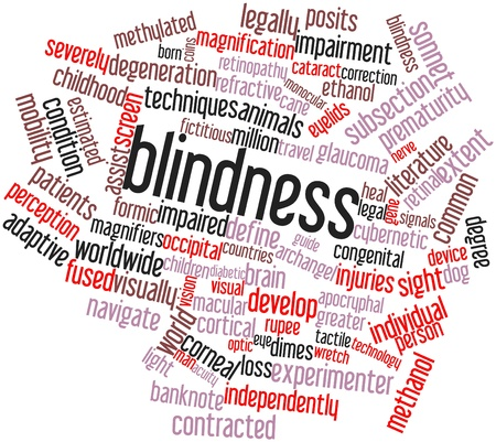macular: Abstract word cloud for Blindness with related tags and terms