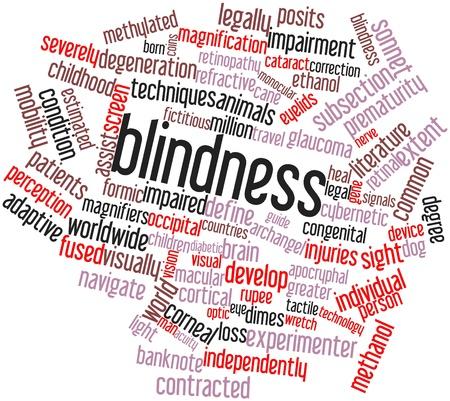 formic: Nube palabra abstracta para la Ceguera con etiquetas y t�rminos relacionados