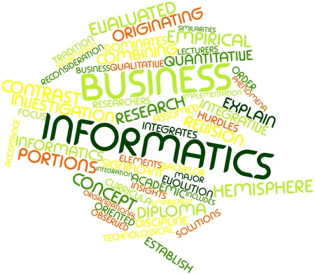 Abstract word cloud for Business informatics with related tags and terms