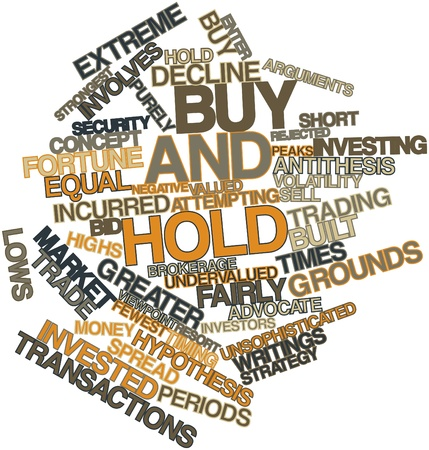 incurred: Abstract word cloud for Buy and hold with related tags and terms