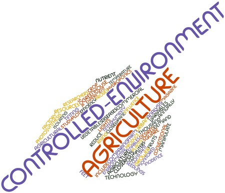 Abstract word cloud for Controlled-environment agriculture with related tags and terms