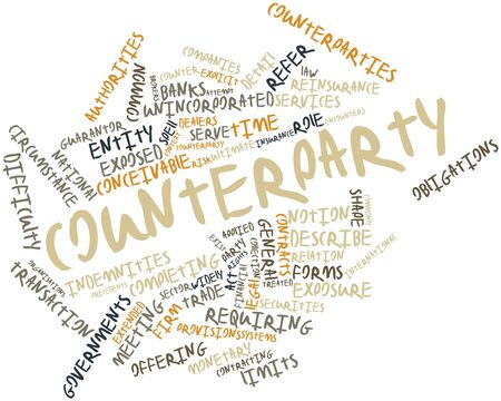 entity: Abstract word cloud for Counterparty with related tags and terms