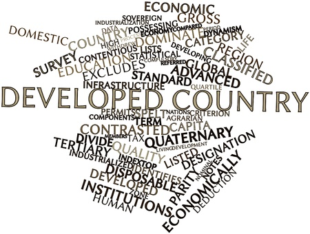 developed: Abstract word cloud for Developed country with related tags and terms