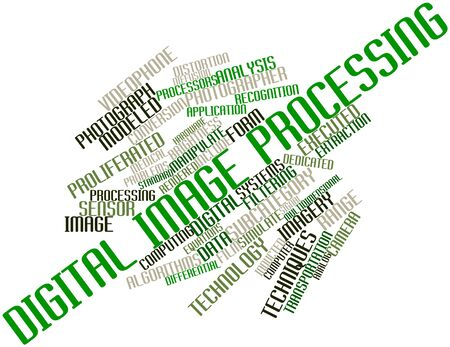 Abstract word cloud for Digital image processing with related tags and terms Stock Photo - 16499661