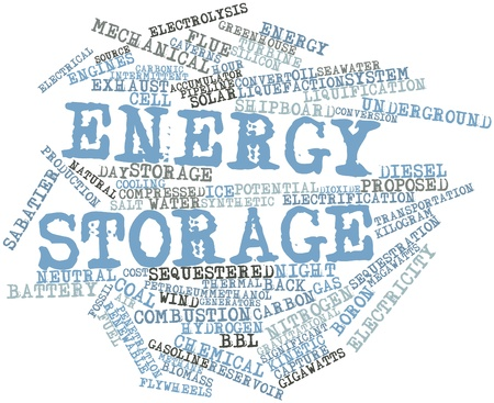 Abstract word cloud for Energy storage with related tags and terms Stock Photo - 16500492