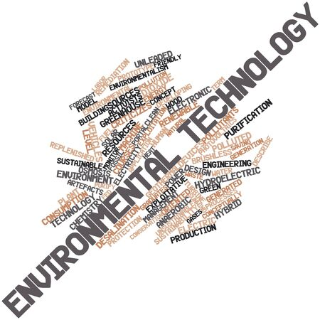 photovoltaics: Abstract word cloud for Environmental technology with related tags and terms