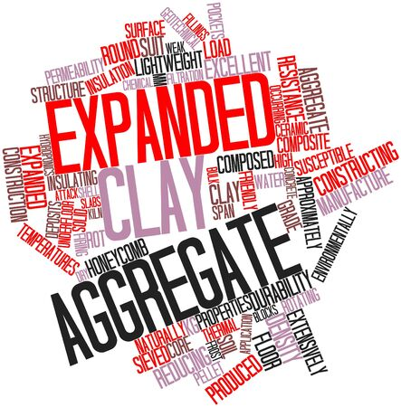 Abstract word cloud for Expanded clay aggregate with related tags and terms Stock Photo - 16500837