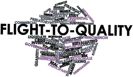 risky behavior: Abstract word cloud for Flight-to-quality with related tags and terms Stock Photo
