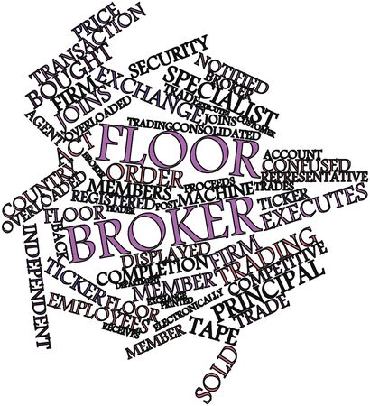 overloaded: Abstract word cloud for Floor broker with related tags and terms
