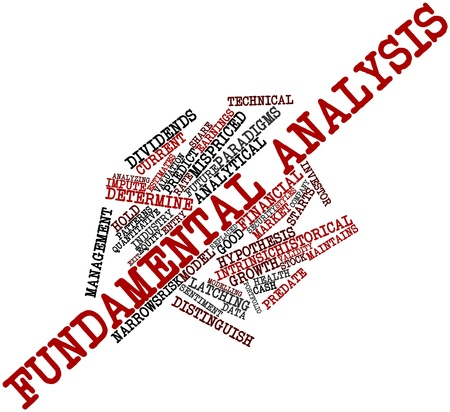Abstract word cloud for Fundamental analysis with related tags and terms Stock Photo - 16499600