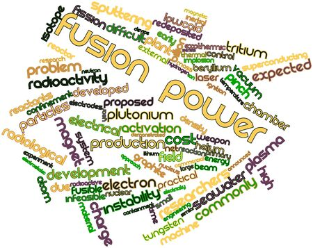 Abstract word cloud for Fusion power with related tags and terms Stock Photo - 16500740