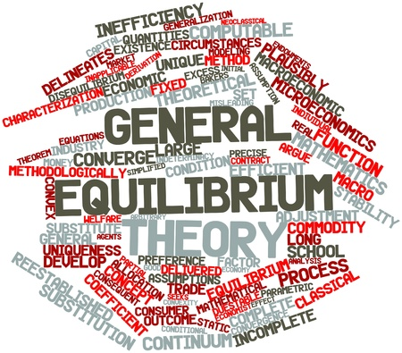 Abstract word cloud for General equilibrium theory with related tags and terms
