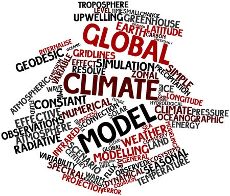 Abstract word cloud for Global climate model with related tags and terms Stock Photo - 16500365
