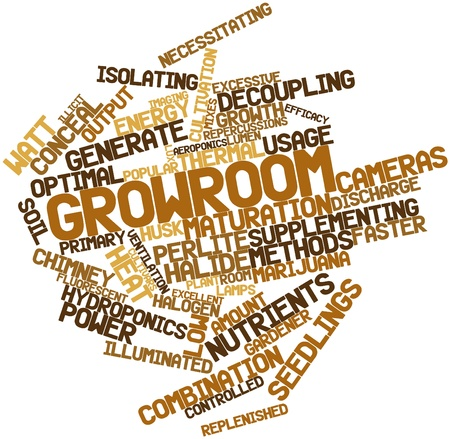utilize: Abstract word cloud for Growroom with related tags and terms