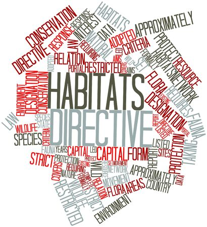 approximately: Abstract word cloud for Habitats Directive with related tags and terms