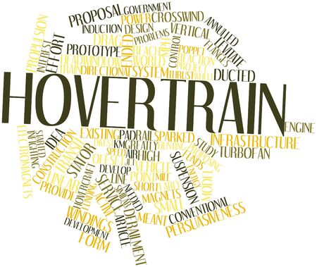 poppet: Abstract word cloud for Hovertrain with related tags and terms
